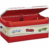Retro Racers Upholstered Toy Box