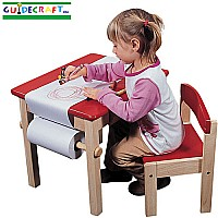 Art Table & Chair Set Red