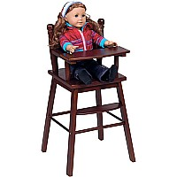 Doll High Chair  Espresso