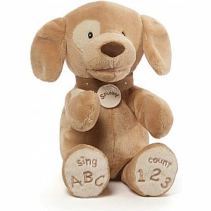 Spunky Dog Tan ABC/123