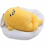 Gudetama Face Up Keychain, 5""