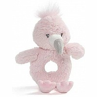 Baby Toothpick Flamingo Rattle