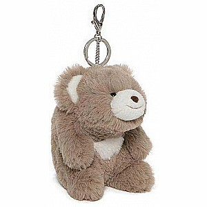 Snuffles Taupe Keychain, 5""