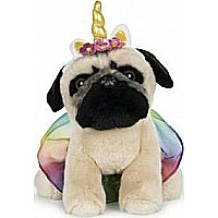 GUND Doug The Pug Unicorn Tutu, 9 In