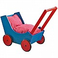 Doll pram, Blue/ Red