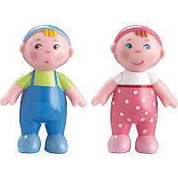 Haba Little Friends Babies Marie and Max Bendy