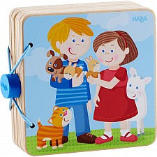 Wooden Baby Book Animal Kids