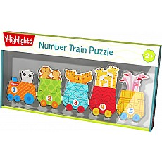Number Train Wooden Puzzle