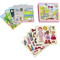 Magnetic Dress-up Lilly Doll Game Tin