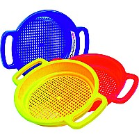 Large Sand Sieve Please indicate color choice in customer notes at check out. Colors available: red, yellow, blue.