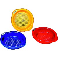 Small Sand Sieve please indicate color choice in customer notes at check out. Colors available: blue, red, yellow