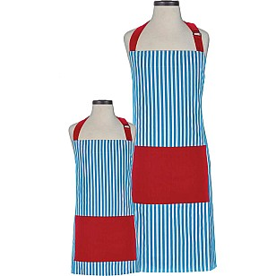 Whimsy Striped Parent and Child Apron Boxed Set