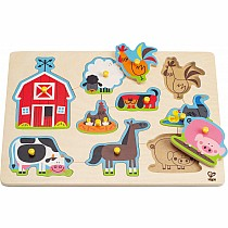 1 on 1 Farm Animals Peg Puzzle