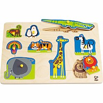 1 on 1 Wild Animals Peg Puzzle
