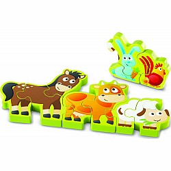 Numbers & Farm Animals Wooden Puzzle