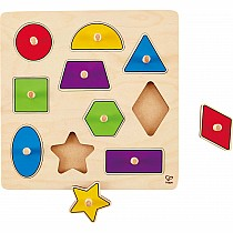 1 on 1 Geometric Shapes Knob Puzzle