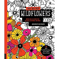 Just Add Color: Wildflowers: 30 Original Illustrations to Color, Customize, and Hang - Bonus Plus 4 Full-Color Images by Lisa C