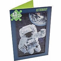 40 pc Jigsaw Puzzle Card Astronaut