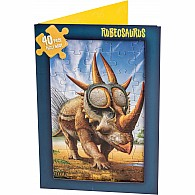 40 pc Jigsaw Puzzle Card Rubeosaurus