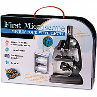 First Microscope: Microscope with light