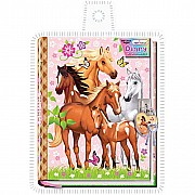 3d Diary With Lock In A Sealed PVC Package, Enchanted Horse
