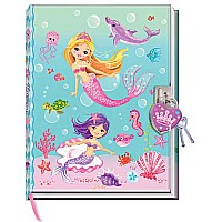 Diary With Lock In A Sealed PVC Package, Mermaid (new)