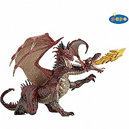 Papo 2 Headed Dragon Red