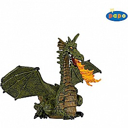 Papo Green Winged Dragon w/ Flame