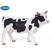 Papo Black and White Cow