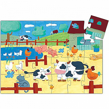 Djeco The Cow on the Farm Puzzle 24pcs