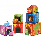 6 Cubes And 6 Animals Nesting Blocks