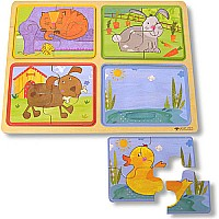 Innovative Kids Green Start Playful Pals Puzzle