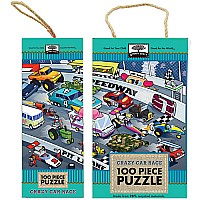 Green Start 100-Piece Puzzle: Crazy Car Race