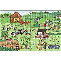 Green Start Giant Floor Puzzles: On The Farm (35Pc)