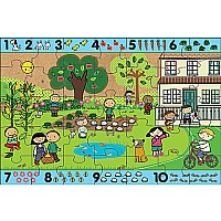 Green Start Giant Floor Puzzles: Number Hunt (35Pc)