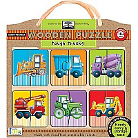 Innovative Kids Green Start Tough Trucks Puzzle