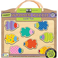 Green Start Chunky Wooden Puzzles: Swish Fish