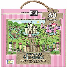 Green Start Giant Floor Puzzles: Princess Fairyland (60Pc)