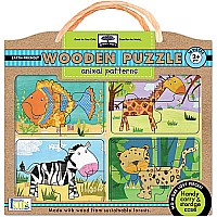 Innovative Kids Green Start Animal Patterns Puzzle