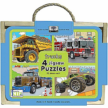Green Start Jigsaw Puzzle Box Sets: Trucks