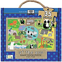 Green Start Giant Floor Puzzles: At The Zoo (60Pc)