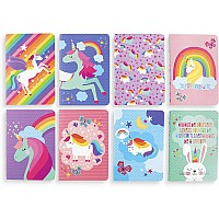 Mini Pocket Pal Journals - Unique Unicorns (Set of 8)