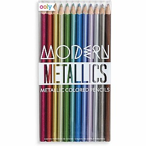 Modern Metallics Colored Pencils - Set of 12