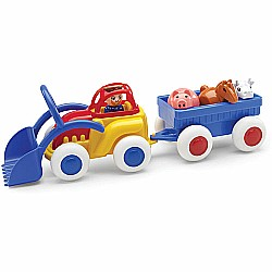 "Midi Chubbies 8"" Tractor with Trailer & Animals"