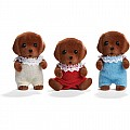Calico Critter Chocolate Lab Triplets