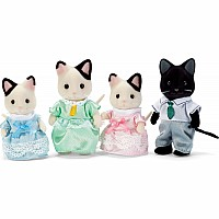 Calico Critters - Tuxedo Cat Family