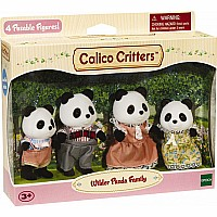 Calico Critter Wilder Panda Bear Family