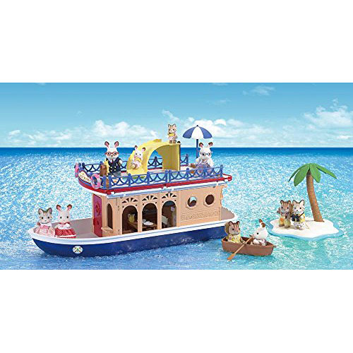 Calico Critters Seaside Cruiser Houseboat Toy Olde Towne