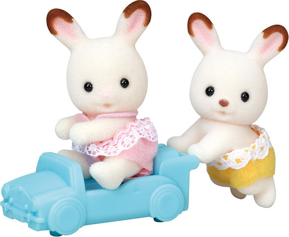 Calico critters hopscotch rabbit twins west side kids - Calico critters deluxe living room set ...
