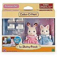 Calico Critters Girls Ice Skating Friends Playset, Multicolor